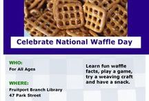 National Waffle Day / Celebrate National Waffle Day @ Fruitport on Saturday, August 22 from 10:30am - 12:30pm. Call 231-865-3461 for more information. madl.org