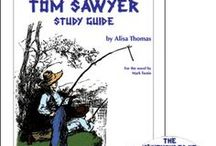 Adventures of Tom Sawyer Enrichment Activities / Projects and activities for Progeny Press literature & reading study guide, Adventures of Tom Sawyer by Mark Twain. Lewis Carroll Shelf Award.  Hannibal, Missouri, caves, coming of age, Huckleberry Finn. Lesson plans, unit studies, teacher resource curriculum, and hands on ideas.