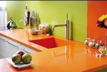 Quartz Countertops / Today's trends in quartz countertops from the kitchen to the bathroom and every surface in-between!