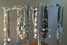 Creative Jewelry Displays/Storage / Enjoy your jewelry whether you are wearing it, or not! With Fine Home Displays jewelry display trees and hangers, you can use your jewelry as a design element in your home, while keeping it neat and organized!