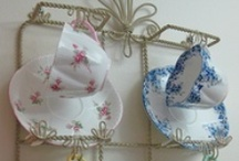 Cup & Saucer Displays / Cups and saucers are some of the most fun collectibles! Rather than hide them away in a china cabinet, keep them on display in a cup and saucer hanger or cup and saucer stand from Fine Home Displays.