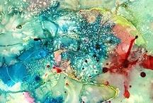 { abstract aquarel }