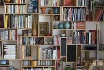 Bookshelves, tables etc