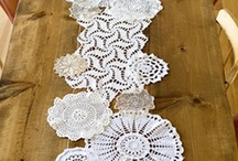 Table Runners/Toppers, Pot Holders, Mug Rugs, ETC. / by Judy Kasper Wolff