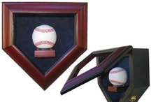 Sports Memorabilia Displays / Baseball display cases, baseball bat display cases, baseball bat display racks, baseball card displays, basketball displays, sports jersey display cases, football display cases, golf ball display cases, hockey puck display cases, boxing glove display cases...Fine Home Displays has the display accessories for that sports enthusiast needs to enhance and protect collectible sports memorabilia.