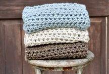 Couvertures bébé tricot/crochet