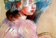 pastel drawings