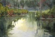 Art -  water colours landscape