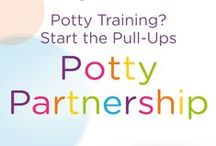 Welcome! / Pull-Ups created the Potty Training Partnership, a program based on children's unique personalities. Complete with fun games, informational articles, plus potty training tips and tricks — the Pull-Ups Potty Partnership is tailored for your toddler.  / by Pull-Ups