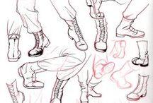 Рисуем ноги человека / Рисуем ноги человека