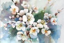 Цветы Рисуем и пишем