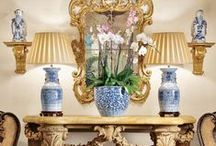 decor-blue and white / decoration