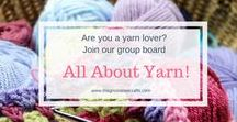 All about Yarn / Do you know your Aran from your Super Chunky? Which knitting needles do you need for 4 Ply? Follow this board to understand all about yarn.   (Email lucy@magnoliatreecrafts.com if you would like to join)
