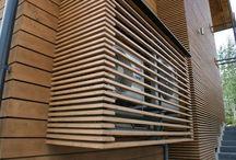 Puitliistudega seinad {Wood slat walls}