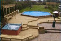 Terrass basseiniga {Ground pool deck}