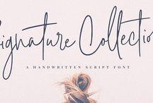 Fonts / Typography / Beautiful fonts, Script fonts, Callicraphy fonts, Handwritten fonts, Modern fonts, Serif fonts, Alphabets, Branding and Design, Web Design, Blog Design