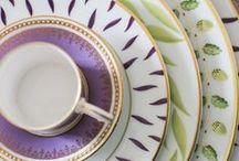 Porcelain, glases