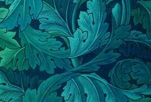 Pastell blue, green, turkos