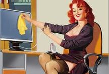 Pin-up ● Secretary