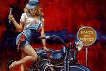 Pin-up ● Motorcycle