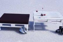 Zima / palety na śniegu