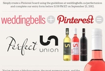 """The Weddingbells and Union Wines Perfect Union. /  So excited about planning my wedding and winning that thirst quenching """"Union Wine"""" to toast and celebrate with my guests."""