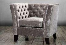 Cornelia Range / Say hello to our new Cornelia range. Sophisticated Feature Button Back chair and sofa.