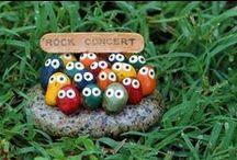 Rock Art Ideas / Rock art or art done with cement etc.