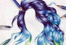 Hair: Drawing and Painting / Drawing hair
