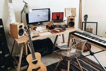 home studio and music equipment