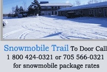 Fun in the Snow: Snowmoible at the Moonlight Inn Sudbury / Enjoy the great outdoors in the winter at the Moonlight Inn and Suites in Sudbury, Ontario.