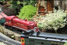 Garden Railway at Morris Arboretum / Visitors of all ages will be wowed by a quarter mile of track featuring seven loops and tunnels with fifteen different rail lines and two cable cars, nine bridges (including a trestle bridge you can walk under!), and bustling model trains, all set in the lovely garden of the Morris Arboretum. The display and buildings are all made of natural materials – bark, leaves, twigs, hollow logs, mosses, acorns, dried flowers, seeds and stones.
