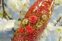 """Wedding bottles / Свадебное шампанское богато украшенное или декорированное вручную не просто дань моде, а продолжение счастливого праздника """"На годовщину"""" и""""Рождение первенца"""". Изысканный декор бутылки шампанского или вина станет оригинальным подарком для гостей торжества, для тех, кто отмечает годовщину или юбилей свадьбы."""