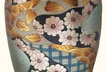 Asian Vases / elegant vases hand painted with such detail. A beautiful addition to any room of the house.
