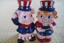 Salt and pepper shakers / Kitschy  / by Shirley Bell