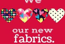 Valentine's Day Prints / We have a brand new exclusive range of heart printed fabrics that have just been added to the Funkifabrics website just in time for V Day. Check them out...