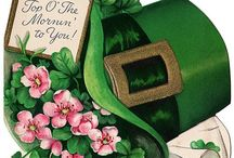 St.Patrick's day / Clover.   Shamrocks  and a pot of gold  / by Shirley Bell