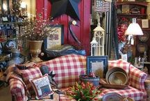 Patriotic themed rooms and patriotic painted furniture / Patriotic  / by Shirley Bell
