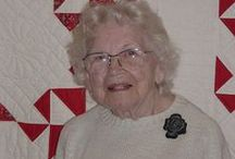 """A MARY SCHAFER QUILTS / Full name: Mary Vida Schafer. Most from """"The Quilt Index"""". Her quilts/quiltcollection/letters/life/books and patterns she use (in 1960`s) in a round robin (call : Progressive Farmer Pattern) etc..She came in: HALL OF FAME in 2007. Born: April 27 1910. Dead: Dec 21 2006: 96 years old. Had a long life friendship with Betty Harrisman (1890-1971), started first making quilt in her`s 40, and made so wunderful quilts. Was also a good friend to Cuesta Benberry, Gwen Marston and Joe Cunningham etc.   / by Dorte Rasmussen.Denmark"""