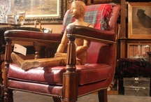 Antique: Seating / A large selection of chairs which include everything from Modern (Eames) to the masterful work of Robert Thompson (The Mouseman) of Yorkshire.  Ann-Morris Antiques imports quite a varied assortment of unique chairs. Having been one of the first to import Orkney Chairs from the Orkney Isles in Scotland and Mouseman chairs from Yorkshire, we have also been very consistent over the years with more familiar styles such as, Upholstered Wing Chairs, Slipper Chairs, leather Club Chairs.
