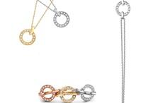 Portobello Meridian / From our Portobello collection - sliding diamond circle pendants, bracelet and rings in rose, yellow and white gold.