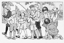 le redwork : les petits enfants / by marie frigerio