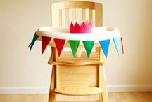 Highchair Decor / Ideas to decorate your baby's highchair for special occasions like a first birthday party