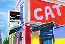JAMAICA bars, cabins, canteens, eateries / gouaches sur papier