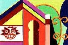 BALI JAVA temples / acryliques sur toile
