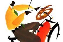 """NEW-ORLEANS, jazzmen du """"vieux carré"""" / gouaches sur papier"""