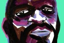 JAMAICA  portraits / gouaches sur papier