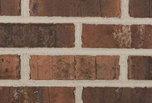 Townsend   Triangle Brick Company / The combination of smooth and tumbled textures highlight the warm brown, tan, creamy white, charcoal tones of this brick. The soft-red base color is revealed for added interest and depth. If you're looking for a high-quality brick with a dynamic color palette the Townsend will fit the bill.   Easily paired with neutrals, warm tones, and anything in between; the Townsend is a brick with tons of personality and will be well-suited for most any project.