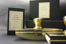 Desk Accessories / Stunning & stylish Solid Brass Desk Accessories proudly individually made in the UK since 1986