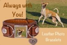Custom Pet Leather Cuff Photo Bracelets / Take your dog, cat or other pet with you wherever you go with this soft, Italian leather cuff-style bracelet...engrave the Zelda's Song Heart with his or her name!